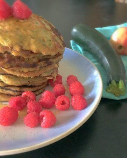 Saftige pandekager med revet squash