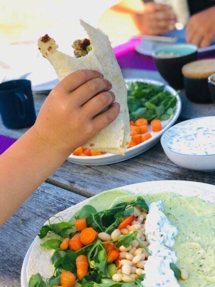 Tortillas – vegetarisk med bønner og dip